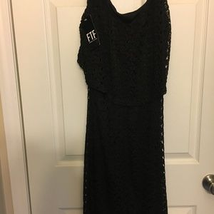 Fashion to Figure Black Lace Dress NWT 1X